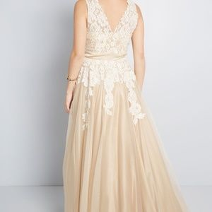 32f8cd5dca9b ModCloth Dresses - ModCloth Memorable Magic Maxi Wedding Dress in Tea